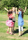 Jumping Girls Royalty Free Stock Images - 33471819