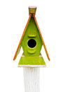 Wooden Colorful Bird House Royalty Free Stock Photography - 33477737