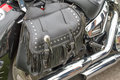 Leather Motorcycle Bag Royalty Free Stock Image - 33482216