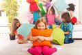 Pillow Fight Is Fun Royalty Free Stock Photos - 33483898
