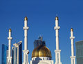 Fragment Of A Muslim Mosque In The Modern City. Kazakhstan. Asta Stock Photography - 33492632