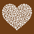 Heart Made Of Coffee Beans Royalty Free Stock Photo - 33497665