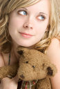 Teddy Bear Girl Royalty Free Stock Image - 3359556