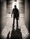 Silhouette Of A Dangerous Military Men Royalty Free Stock Images - 33502529