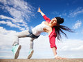 Beautiful Dancing Girl In Movement Royalty Free Stock Photography - 33507477