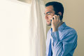 Irritated Man Calling Someone With A Mobile Phone And Looking Ou Royalty Free Stock Image - 33526246