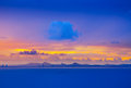 Calm Sea Scape With Big Cloud In The Morning Sun Set Royalty Free Stock Photo - 33531995
