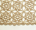 Beige Crochet Lace Stock Photography - 33536972
