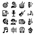 Music Icons Stock Image - 33539171