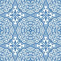 Seamless Blue Retro Pattern Background Royalty Free Stock Photography - 33547367