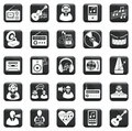 Vector Set Of Icons Royalty Free Stock Photo - 33551005