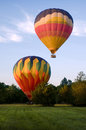 Two Hot-air Balloons Taking Off Or Landing Royalty Free Stock Photo - 33557565