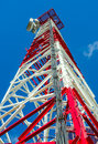 Communications Tower Close-up Royalty Free Stock Photo - 33563205
