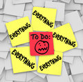 Sticky Notes To Do List Everything Overwhelming Tasks Royalty Free Stock Image - 33564596