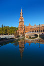Palace At Spanish Square In Sevilla Spain Stock Photography - 33566092