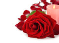 Rose And Candle Stock Images - 33566174
