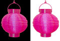 Chinese Lanterns Isolated - Pink Over Black And White Royalty Free Stock Photo - 33576365