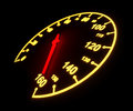 Glowing Speedometer Dial Royalty Free Stock Photography - 33582187