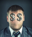 Businessman With Dollar Symbols Stock Images - 33586954