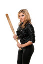 Portrait Of Beautiful Girl With A Bat Stock Photo - 33595910