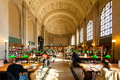Interior View Of Reading Area Of Historic Boston Public Library Royalty Free Stock Image - 33600416