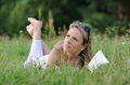 Young Woman Reading Book Royalty Free Stock Photography - 33606087