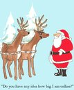 Santa And Rudolph Royalty Free Stock Images - 33607139