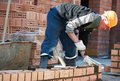 Construction Mason Worker Bricklayer Royalty Free Stock Image - 33615886