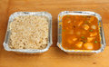 Chinese Curry & Rice Takeaway Meal Stock Images - 33621814