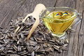 Sunflower Seeds And Oil Royalty Free Stock Image - 33625426