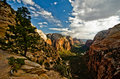 Zion Canyon As Seen From Angels Landing At Zion National Park Stock Images - 33625984