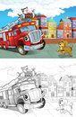 Cartoon Styled Machine Coloring Page Stock Photos - 33629073