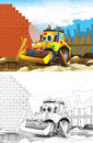 Cartoon Styled Machine Coloring Page Stock Photo - 33629200