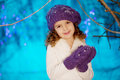 Little Winter Fairy Tale Girl Royalty Free Stock Images - 33641169