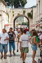 Tourists Walking On The Streets Of Zadar, Croatia Stock Images - 33647934