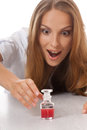 Woman Doctor Or Nurse With Medication In Bottle Stock Photos - 33650903