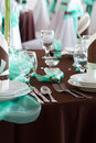 Wedding Table Set With Decoration For Fine Dining Or Another Catered Event Royalty Free Stock Images - 33660889