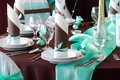 Wedding Table Set With Decoration For Fine Dining Or Another Catered Event Stock Images - 33660904
