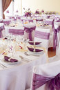 Wedding Tables Set For Fine Dining Or Another Catered Event Royalty Free Stock Images - 33661259