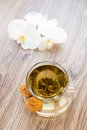 Cup With Green Tea Royalty Free Stock Photos - 33661928