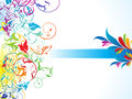 Abstract Colorful Floral Background Royalty Free Stock Image - 33665356
