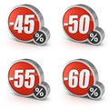 Discount 45 50 55 60 Sale 3d Icon On White Background Royalty Free Stock Photo - 33666185