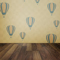 Vintage Interior Grunge Background With Wooden Floor And Balloon Stock Images - 33668644