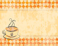 Retro Background With A Cup Of Coffee Stock Photos - 33671413