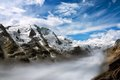 Mountain Range With Fog In The Valley Stock Image - 33671511