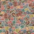 Seamless Texture Of Postage Stamps. Stock Image - 33675261