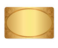 Gold Gift Coupon, Gift / Discount Card / Ticket Te Stock Photo - 33676200