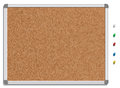 Empty Corkboard With Colored Pins Royalty Free Stock Images - 33687309