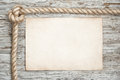 Rope, Sheet Of Paper And Wood Background Stock Image - 33697291