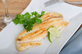 Grilled Fish With Red Potatoes Stock Photos - 33705603